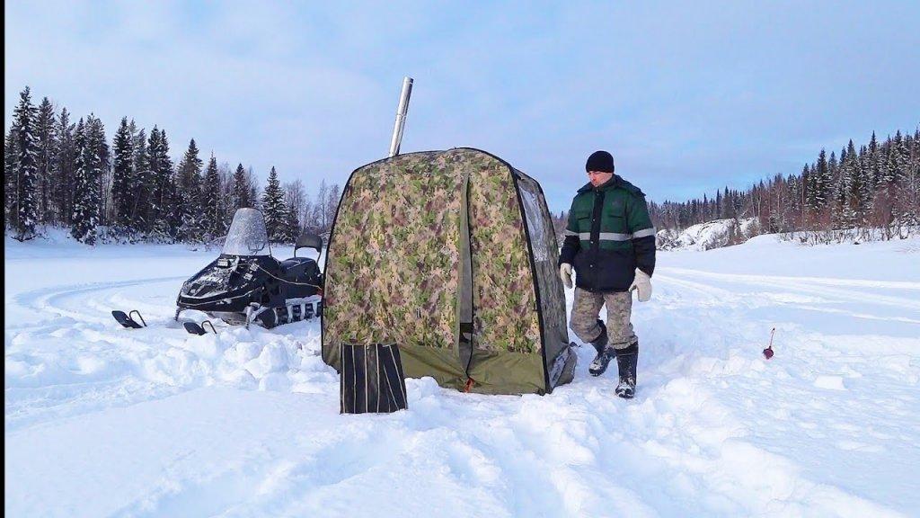 Рыбалка на реке / мобильная баня морж. Палатка для рыбалки и не только.