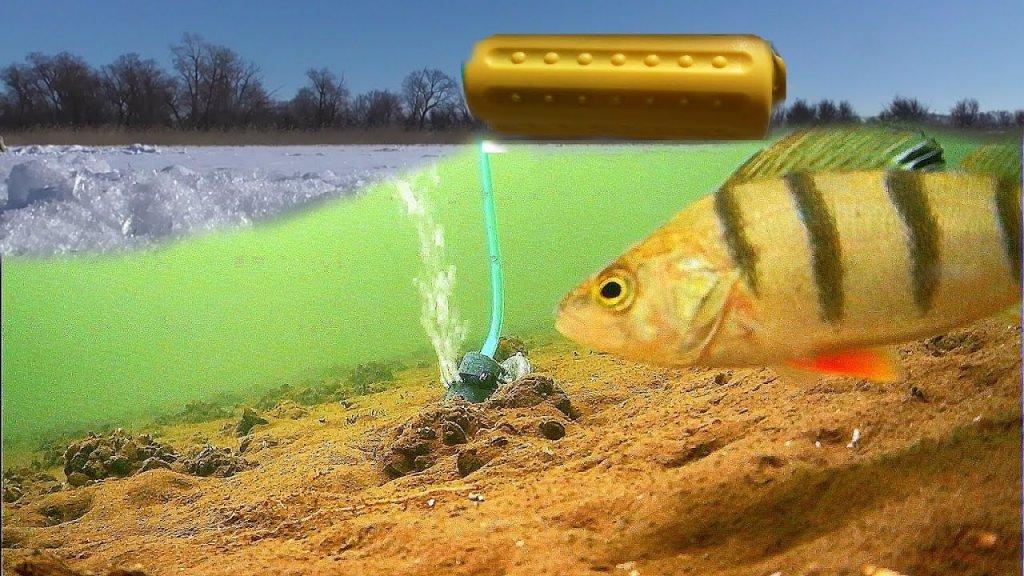 ЧТО, ЕСЛИ УСТАНОВИТЬ воздушный Компрессор в Глухозимье? Реакция рыбы на Фарш из Мойвы!