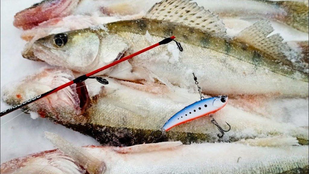 Ловля весеннего судака на раттлины - вибы! Рыбалка на судака со льда на овх