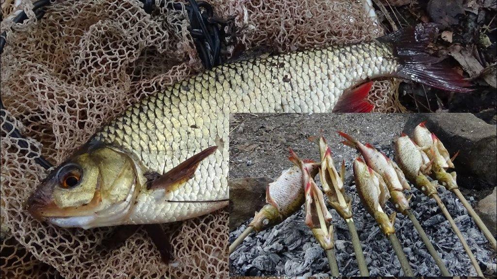 Ловля на попла поппер и  готовим  рыбу  на углях .