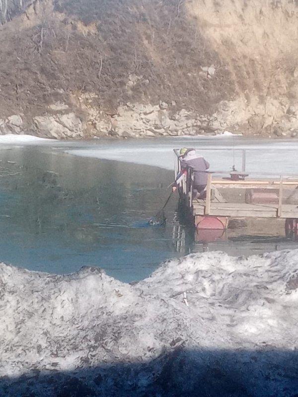 Тестирование открытой воды на Изумрудном.