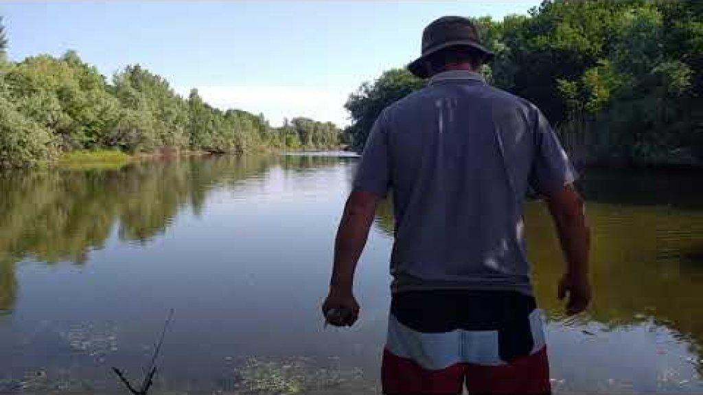 Утренняя рыбалка у дома на поплавочную удочку!!!