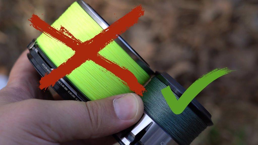 Как нельзя наматывать леску или шнур на шпулю