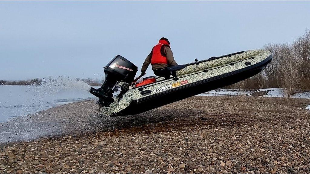 На скорости в берег. Испытания лодки