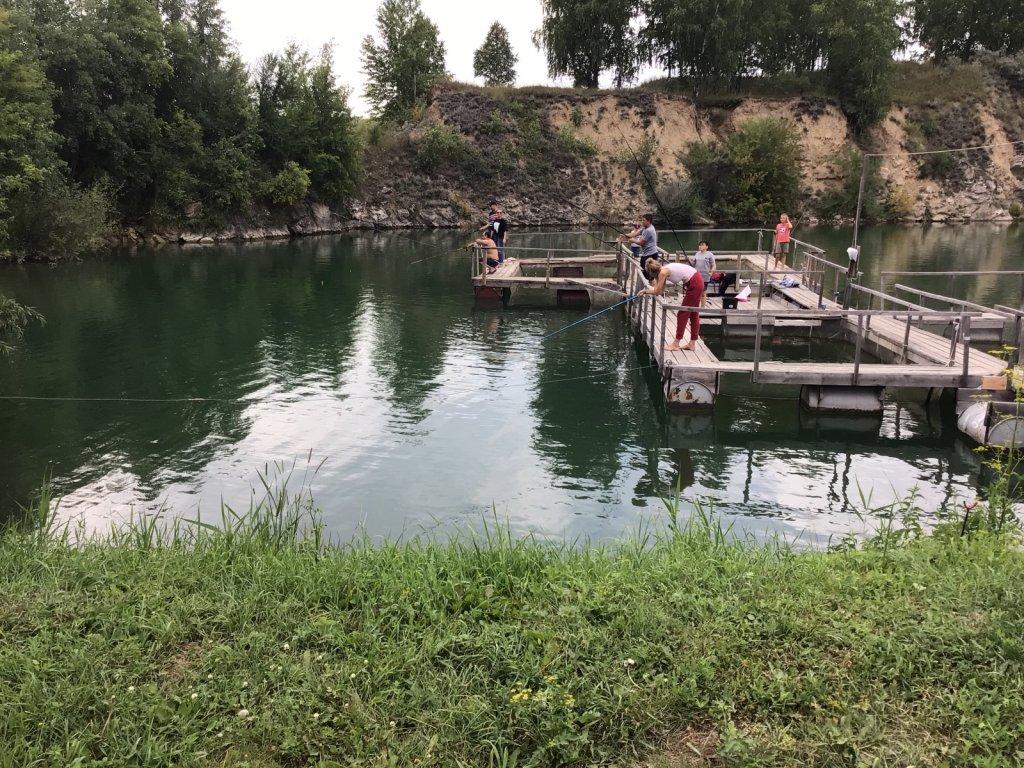 Вчерашние рыболовы на»Изумрудном «.