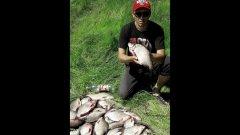 Гиревик не смог поднять садок с рыбой--МЕГА рыбалка!!!