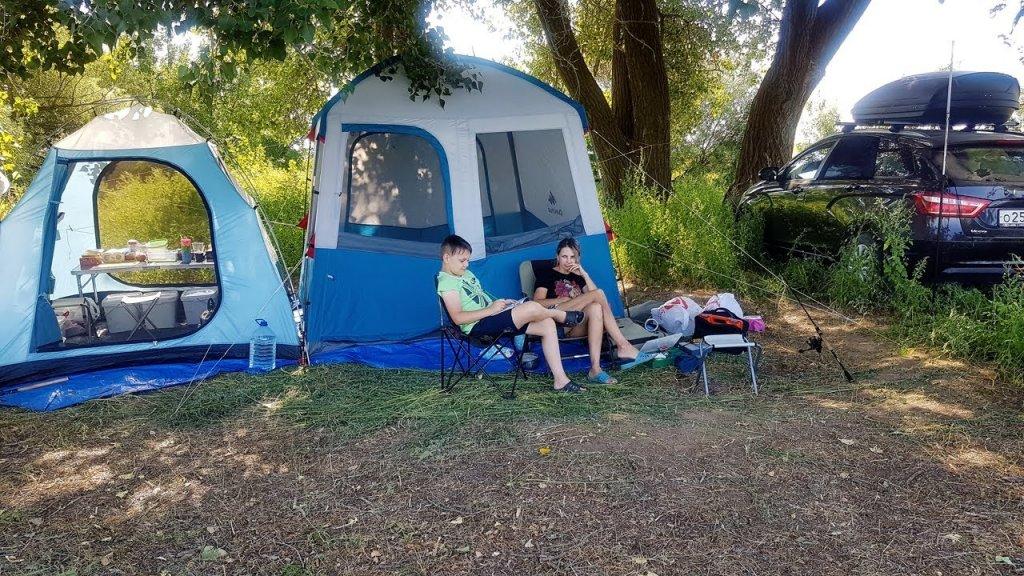 Дикарем с семьей в палатке. Недельная рыбалка в Астрахани.