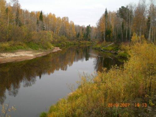 Таже река днем