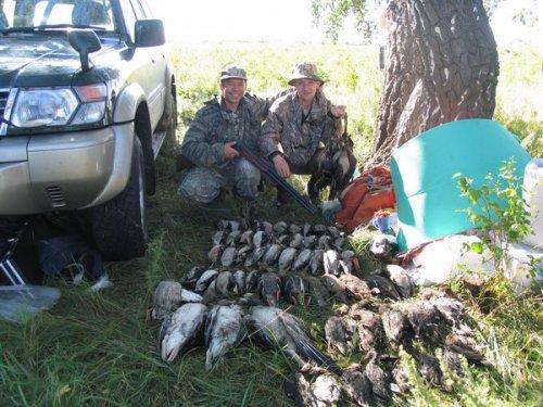 Баган открытие Трех гусей с 2х выстрелов
