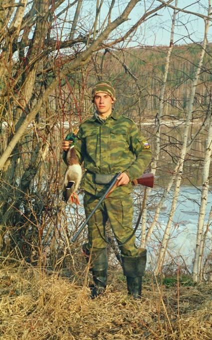 Первый трофей из новенького ружья. Весна 2004 г.