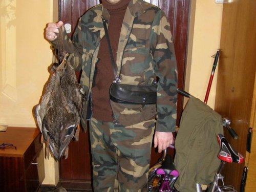 Дома - жена встретила своего охотника...