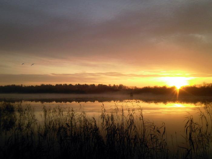 Утро пятницы. Кашлам. Озеро Зимняк.