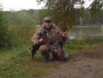 В первый вывел своего ягда на осеннею охоту.