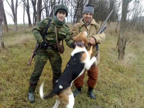 Я слева, Сергей справа, и мой пес Алан  (РПГ)