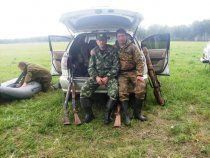Подготовка к охоте.