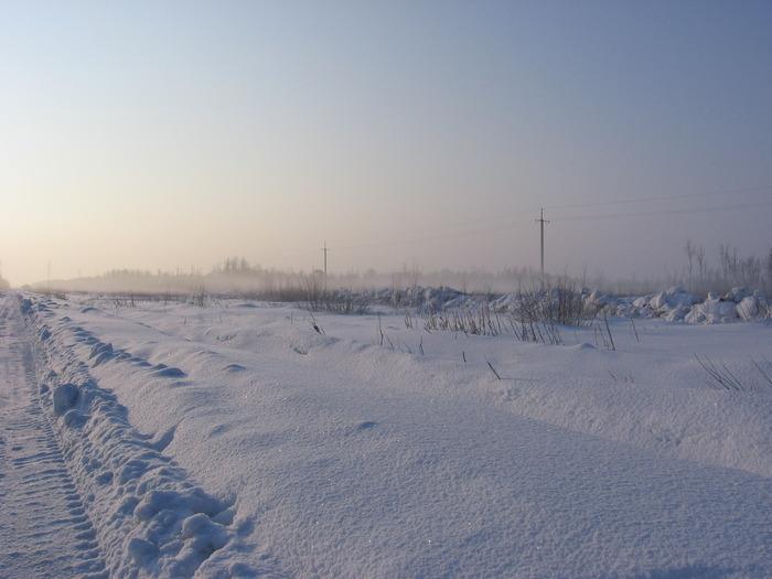 Зима, туман 17 марта 2010 г. 7-00 утра