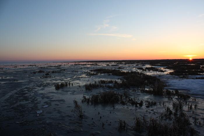 Закат на Убинке. Вечер 23 апреля.