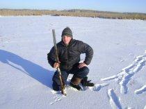 Мой  сын Иван и я на охоте 01.2009г.