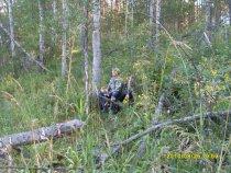Михаил с сыном впервые на охоте.