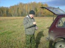 Охот-ниК в Томском районе за утренним чаепитием (луга перед Козюлинским свертком)