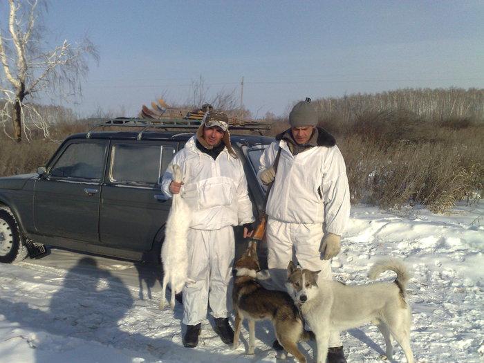С другом на охоте