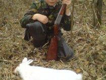 Первый заяц сына.