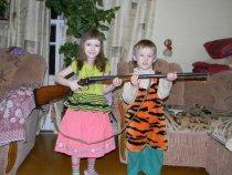 Чистка ружья от детей отбоя нет!))