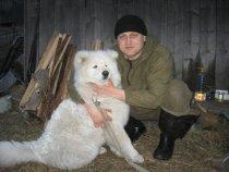 C 6-ти месячным щенком..)))))