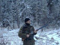 Глухарь по снегу