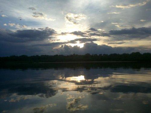 Закат после грозы