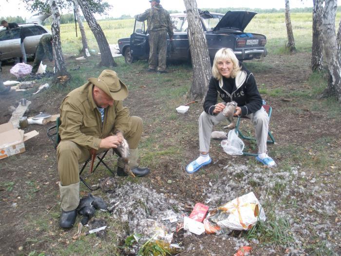 Впервые на охоте ... (справа) :-)