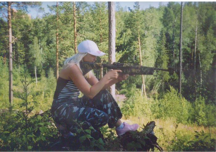 мой снайпер ...)))