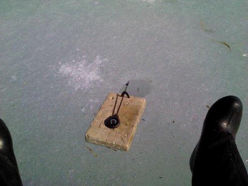 Моя первая рыбалка зимой.