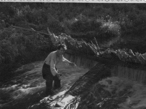 Батин альбом. Такая снасточка на харюзочков. Бирилюсский р-н. Томской. 1972г