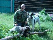 Байкал 14 лет, барсук 16 кг  и  я ....
