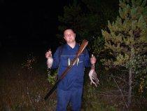 Молодой,первый выход на охоту.