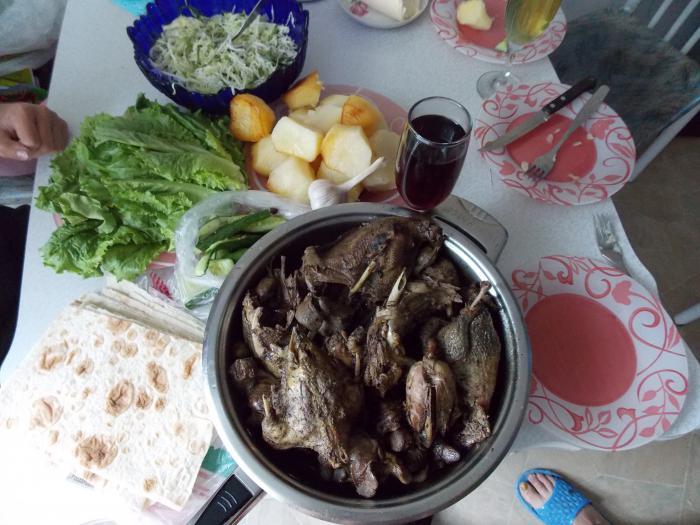 перекус после открытия