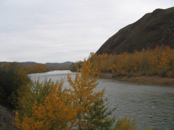 Река Эрзин, юг Тувы
