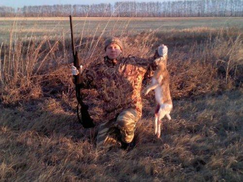 Открытие по зайцу. День первый. или Как я «окропил» новое ружье - 1.
