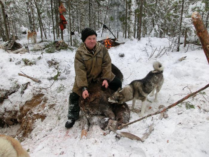 ноябрь_2012 охота на берлоге