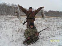 На охоте с будующим охотником!!!  Удачно!!!!!!