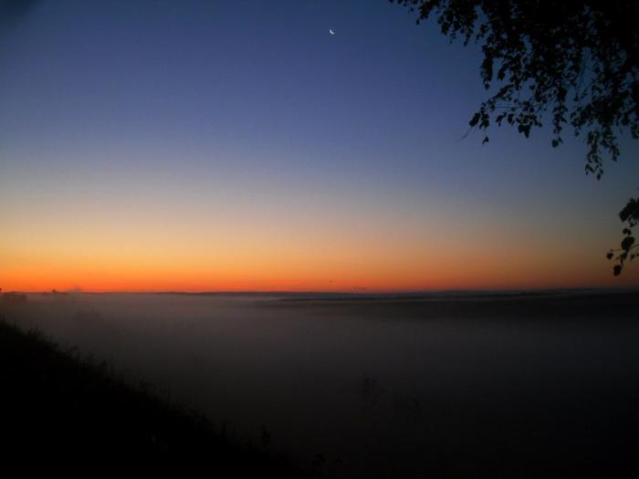 Рассвет на Саратовском болоте
