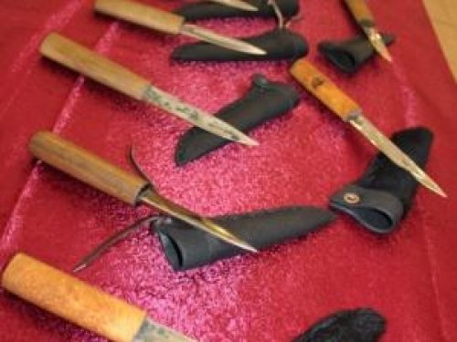 Выставка якутских ножей.