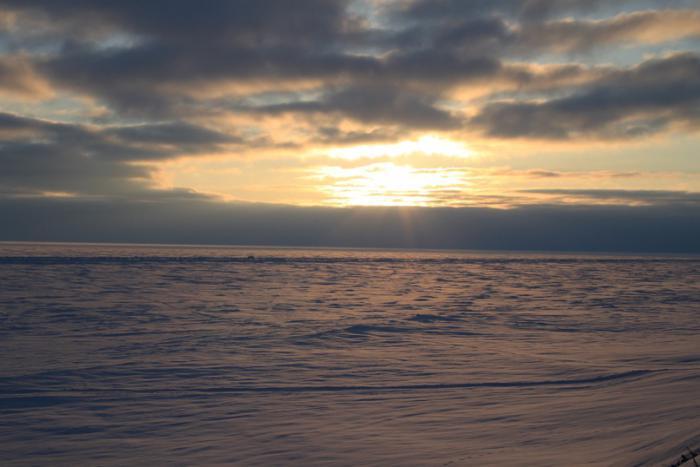 Закат над Енисеем