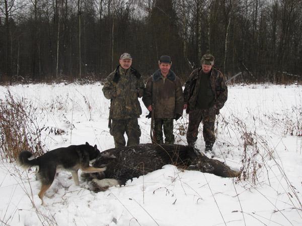После удачной охоты