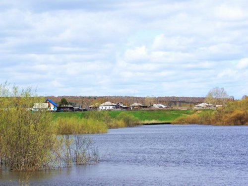 Сибирское село.