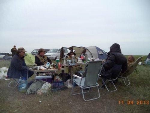 Открытие охоты на озере Конево (осень 2013г.)