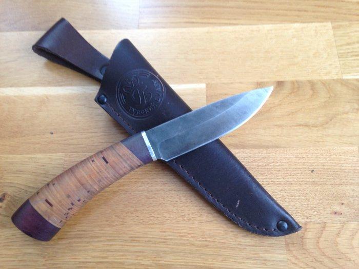 """Мой нож """"Соболь"""" (дамасская сталь)."""