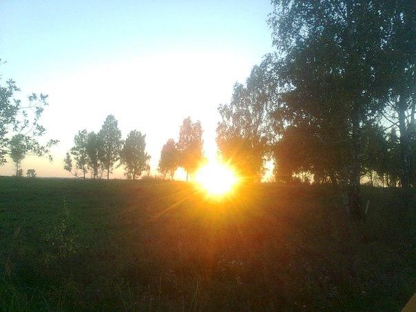 Закат. Саратовские болота. Сухобузимский район.