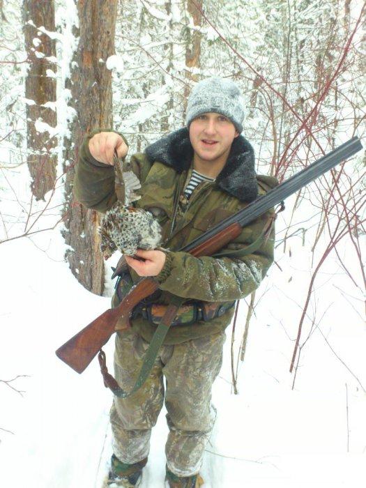 мой первый рябчик с моего ружья